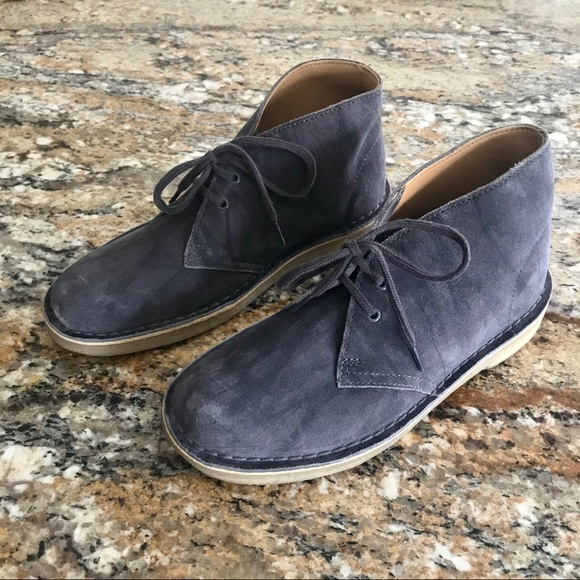 sells new lower prices 100% top quality Clarks   Grey Suede Leather Chuka Desert Boots 6.5